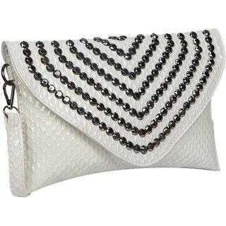 Bagkok White Self Design Casual Sling Bag