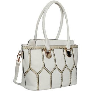 Bagkok White Self Design Casual Sling Bag