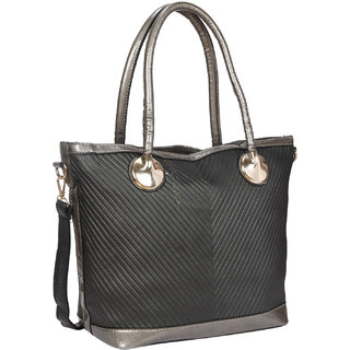 Bagkok Black Printed Casual Totes