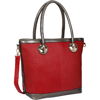 Bagkok Red Printed Casual Totes