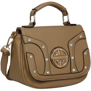 Bagkok Gray Self Design Casual Sling Bag