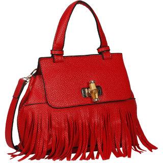 Bagkok Red Self Design Casual Sling Bag