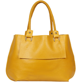 Bagkok Yellow Printed Casual Totes