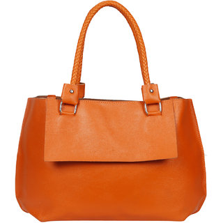 Bagkok Orange Printed Casual Totes