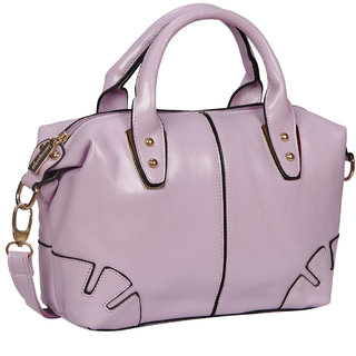 Bagkok Purple Printed Casual Totes