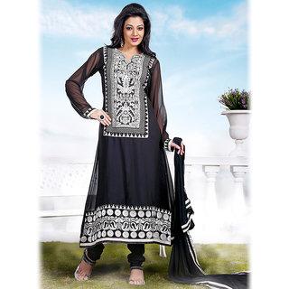 Ishi Maya Trendy Black A Line Suit