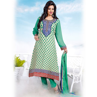 Ishi Maya Gorgeous Green A Line Suit