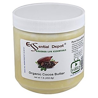 Organic Cocoa Butter - Unrefined - 16 Oz.