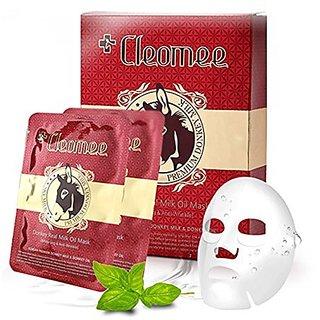 Cleomee New Donkey Real Milk Oil Mask 10sheet,whitening,anti-wrinkle,anti-aging