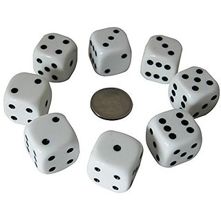 Sage Select 8 LARGE - Dice Set with 4 Four Storage Bags - Easy to Hold - Easy to See