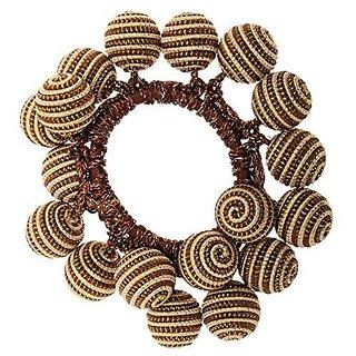 L. Erickson Woven Whirl Metallic Pony - Chocolate