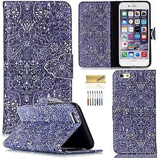 iPhone 6 Plus/6S Plus Case, Dteck(TM) Colorful Slim Flip Folio Synthetic Leather Premium Protective Wallet Case Cover wi