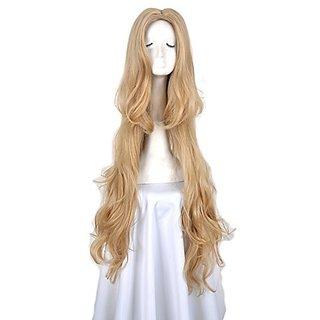 Yuehong Blonde Lady Fashion Code Geass Wavy Fashion Cosplay Wig