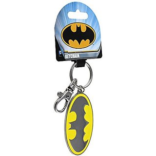 Licenses Products Batman Enameled Logo Metal and Enameled Keychain Action Figure