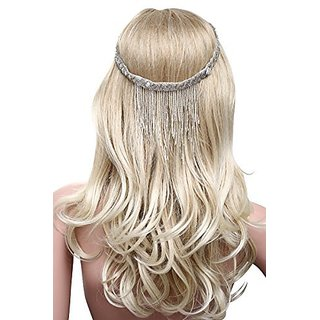 Babeyond Bridal Headpieces Vintage Tassel Head Chain Beaded Headband Flapper Tassel Hair Accessories for Bridesmaids Fre