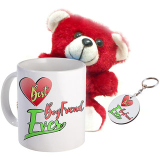 Sky Trends Wonderful Combo Gift Set Printed Coffee Mug Keychain Teddy Gift For Propose Day Rose Day Hug Day Kiss Day Valentine & Anniversery Birthday STG-17