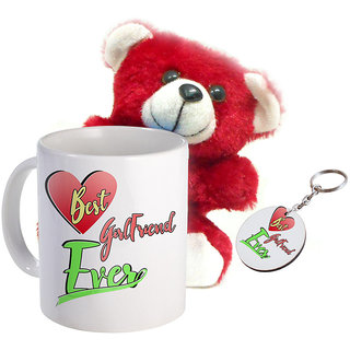 Sky Trends Wonderful Combo Gift Set Printed Coffee Mug Keychain Teddy Gift For Propose Day Rose Day Hug Day Kiss Day Valentine & Anniversery Birthday STG-18
