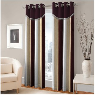 Modern Fab Set of 2 Polyester Multicolour Door Curtains -5 ft