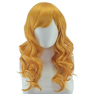 Epic Cosplay Hestia Golden Blonde Cosplay Curly Wig 22 Inches (08GO)
