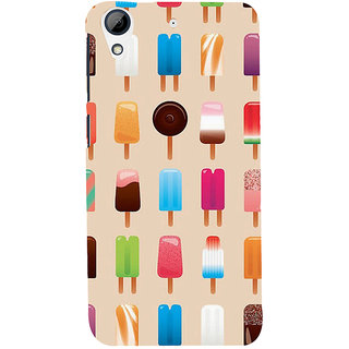 Snapdilla Different Colorful Light Background Ice-Cream Lovers Back Cover For HTC Desire 626