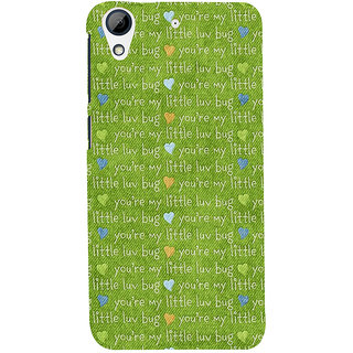 Snapdilla Artistic Green Color Texture You Are My Little Love Bug Quote Quote Mobile Pouch For HTC Desire 626