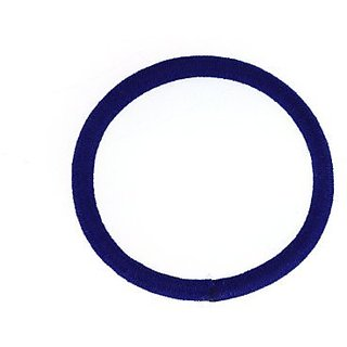Trimweaver 48-Piece No Metal Elastic Ponytail Holders for Craft Work, 2-Inch, Blue