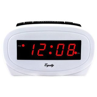 LA CROSSE TECHNOLOGY 0.6 LED White Alarm Clock