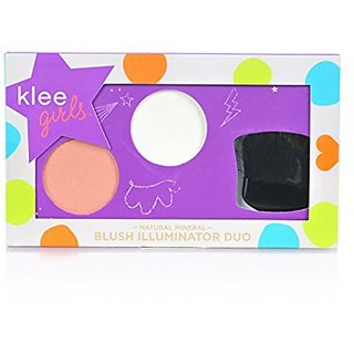 Luna Star Naturals Klee Girls Blush Illuminator Duo, Finger Lakes Glow Whistler Sparkles/Coral, 2.7 Ounce