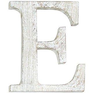 Mud Pie Wood Block Initial-E