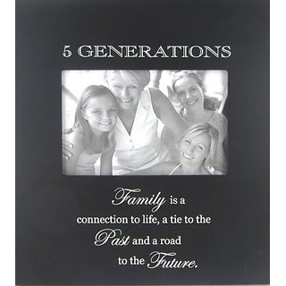 Infusion Gifts 3121-LB 5 Generations Photo Frame, Large, Black