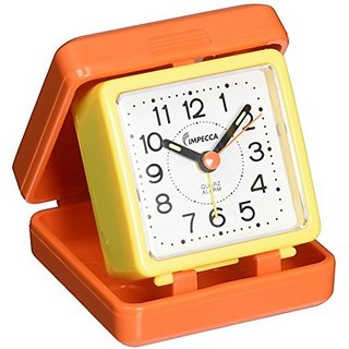 Impecca Traveling Folding Alarm Clock (Orange / Yellow)