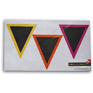 Classroom Office Removable Chalkboard Wall Decals - Triangle - 6 Piece