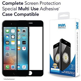 iPhone 6S Plus / 6 Plus Papa Protect Edge to Edge Full Coverage HD Ultra Clear Armored Glass / 3D Touch Compatible / Cas