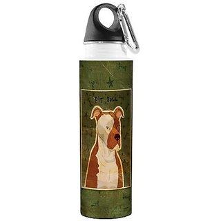 Tree-Free Greetings VB48008 John W. Golden Artful Traveler Stainless Steel Water Bottle, 18-Ounce, Pit Bull