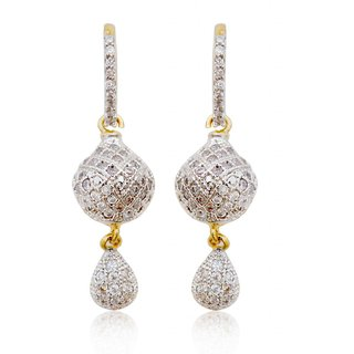 Rajwada Arts Trendy American Diamond Earrings for Women