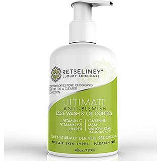 Retseliney Acne Face Wash & Oil Control, Acne Treatment for Face with 2%  Salicylic Acid, for Teens, Adult & Hormonal Acn