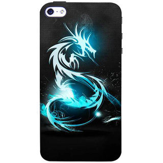 Stubborne Dragoon Multicolor 3D Printed Apple Iphone 4 Back Cover / Case