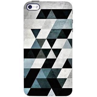 Stubborne Herringbone Design Multicolor 3D Printed Apple Iphone 4 Back Cover / Case