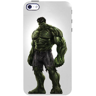 Stubborne Angry Hulk Multicolor 3D Printed Apple Iphone 4 Back Cover / Case