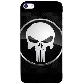 Stubborne Punisher Sign Black 3D Printed Apple Iphone 4 Back Cover / Case