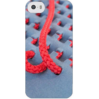 Stubborne Pink Thread Pattern 3D Printed Apple Iphone 5S Back Cover / Case