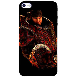 Stubborne Gears of Wars Multicolor 3D Printed Apple Iphone 4 Back Cover / Case