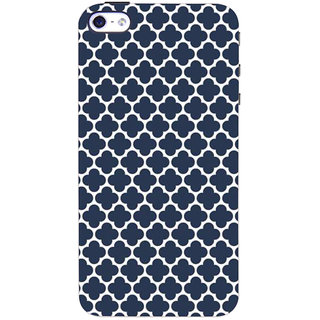 Stubborne Blue Flower Pattern 3D Printed Apple Iphone 4S Back Cover / Case