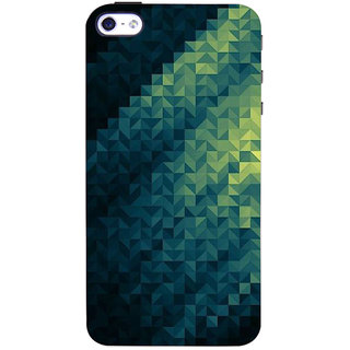 Stubborne Multicolor Accentric Pattern 3D Printed Apple Iphone 4S Back Cover / Case