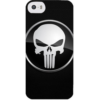 Stubborne Punisher Sign Black 3D Printed Apple Iphone 5C Back Cover / Case