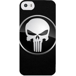 Stubborne Punisher Sign Black 3D Printed Apple Iphone 5C Back Cover / Case