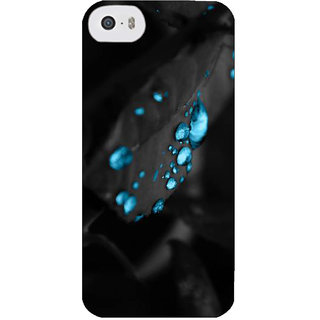 Stubborne Gloss Drops on Leaf Multicolor 3D Printed Apple Iphone 5C Back Cover / Case