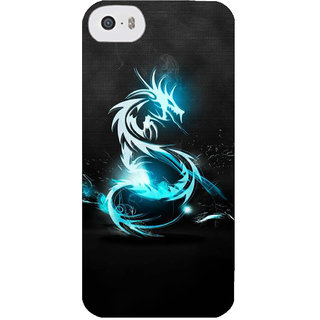 Stubborne Dragoon Multicolor 3D Printed Apple Iphone 5S Back Cover / Case
