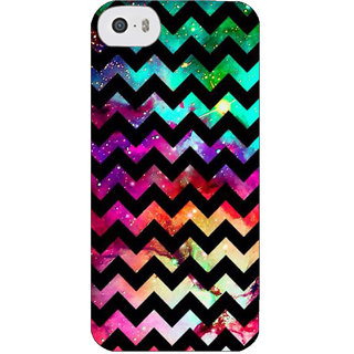 Stubborne Herringbone Design Multicolor 3D Printed Apple Iphone 5S Back Cover / Case
