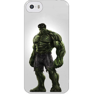 Stubborne Angry Hulk Multicolor 3D Printed Apple Iphone 5S Back Cover / Case